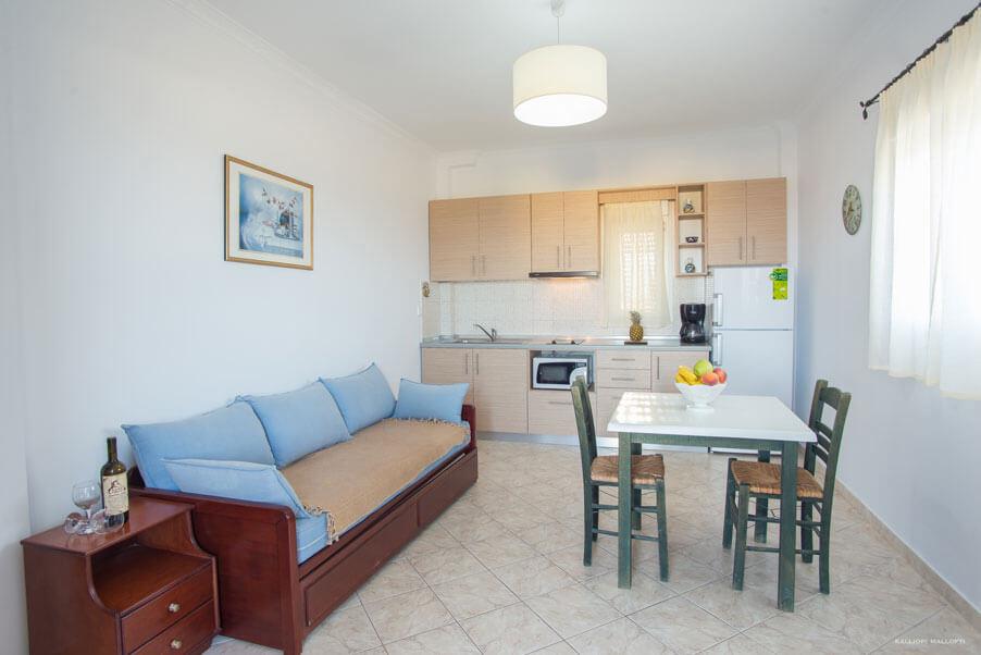 Kalimera Karpathos - Apartment - Kitchen - Living Room